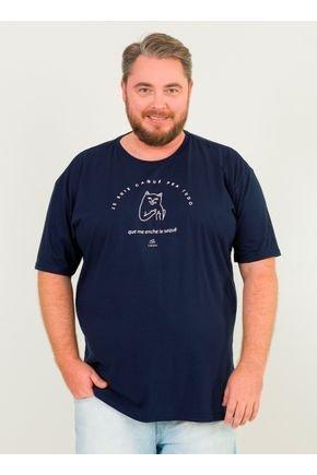 1 camiseta masculina plus size gato frances urien azul marinho jpg