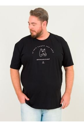 1 camiseta masculina plus size gato frances urien preto jpg