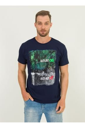 1 camiseta masculina amazon urien azul marinho