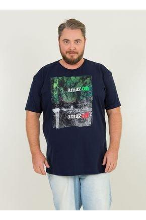 1 camiseta masculina plus size amazon urien azul marinho