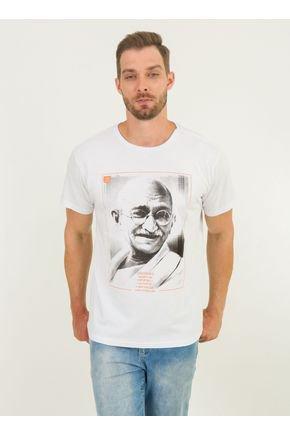 1 camiseta masculina gandhi urien branca