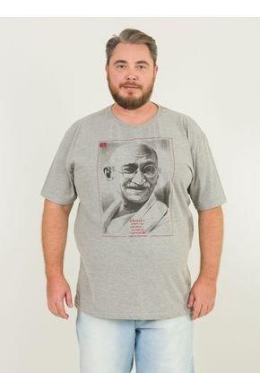 1 camiseta masculina plus size gandhi urien mescla