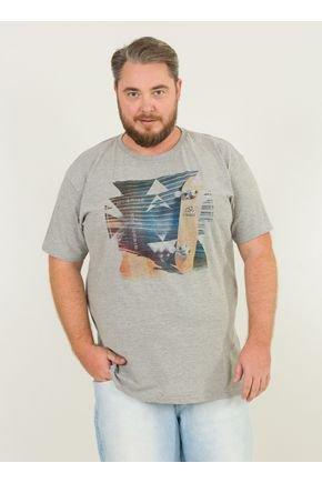 1 camiseta masculina plus size sk8 urien mescla