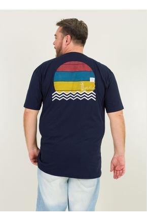 2 camiseta masculina plus size good vibes urien azul marinho