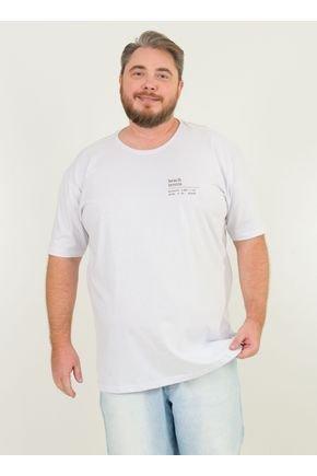 1 camiseta masculina plus size beach tenis urien branca