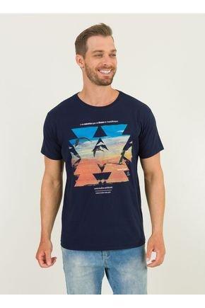 1 camiseta masculina horizonte urien azul marinho