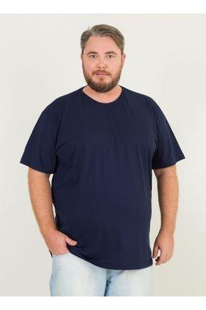 1 camiseta masculina plus size basica urien azul marinho jpg