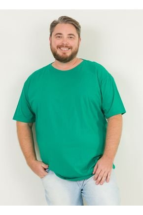 1 camiseta masculina plus size basica urien verde jpg