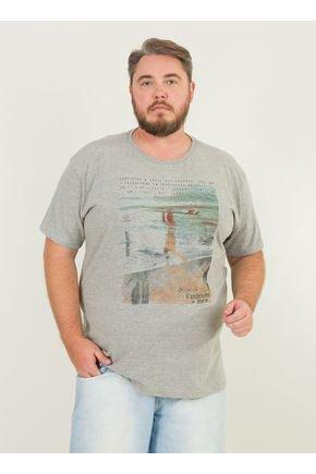 1 camiseta masculina plus size praia surf urien mescla