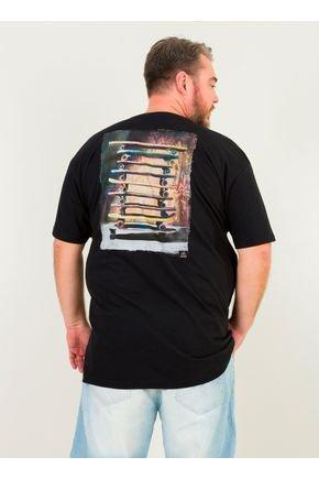 1 camiseta masculina plus size sk8 aquarela urien preto jpg