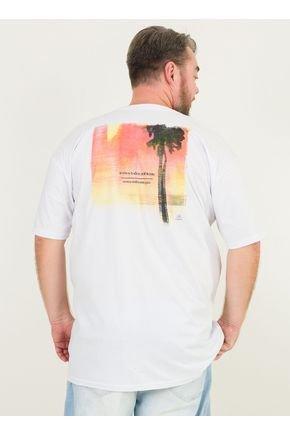 1 camiseta masculina plus size somos todos ambiente urien branca
